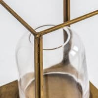 Buy Distressed Old Gold Lantern 32cm - ChicParadisLux